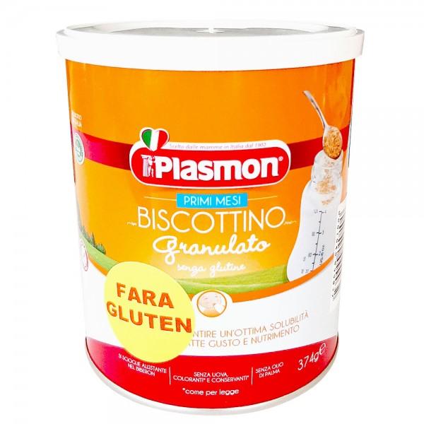 Biscuiti Plasmon granulati fara gluten 374 g de la 4 luni