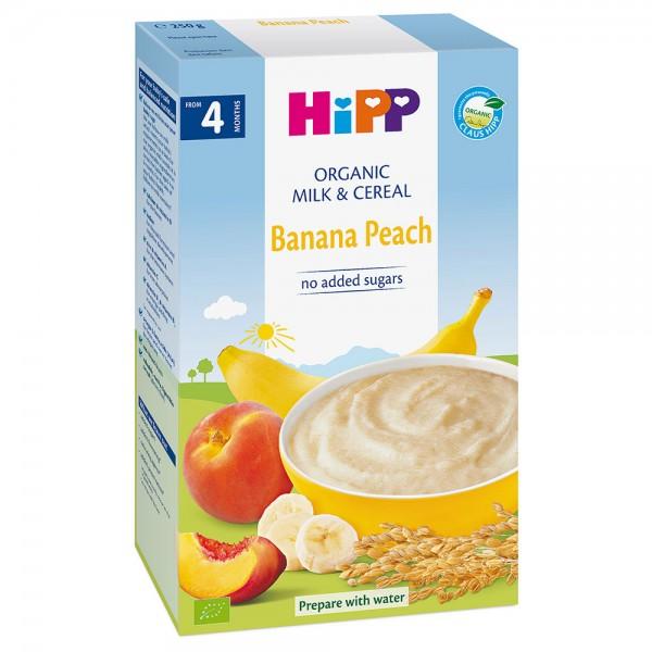 Cereale Hipp cu lapte piersici si banane de la 4 luni 250 g