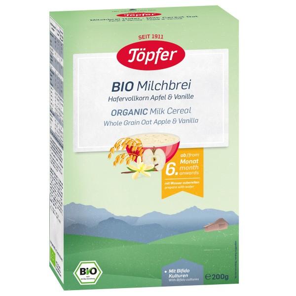 Cereale Topfer cu ovaz, lapte, mar si vanilie de la 6 luni 200 g