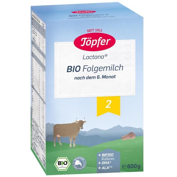 Formula de lapte praf Topfer 2 Lactana Bio de la 6 luni 600 g