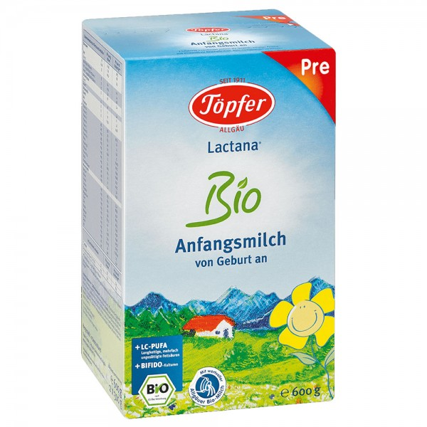Formula de lapte praf Topfer PRE Bio de la nastere 600 g