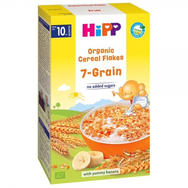 Fulgi de cereale Hipp ecologice cu 7 cereale de la 10 luni 200 g