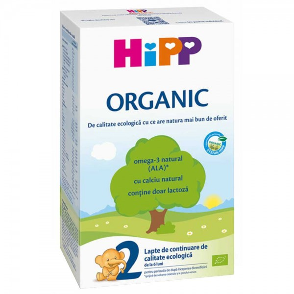 Lapte praf Hipp 2 Organic de la 6 luni 300 g