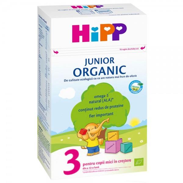 Lapte praf Hipp 3 Junior Organic de la 1 an 500 g