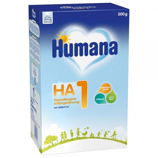 Lapte praf Humana HA 1 de la nastere 500 g