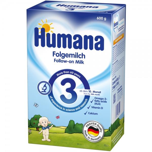 Lapte praf Humana 3 600 g