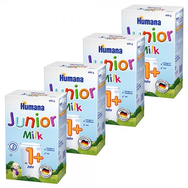 Pachet lapte praf Humana Junior Milk de la 1 an, 4 x 600 g