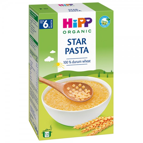 Paste pentru bebelusi HiPP Organic Baby Pasta de la 6 luni 320 g