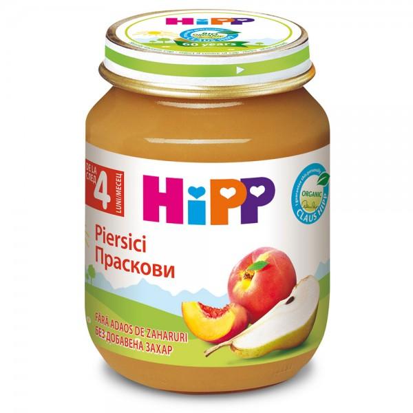 Piure de fructe Hipp piersici de la 4 luni 125 g