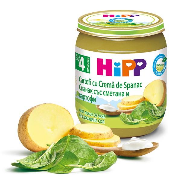 Piure de legume Hipp cartofi cu crema de spanac de la 4 luni 125 g