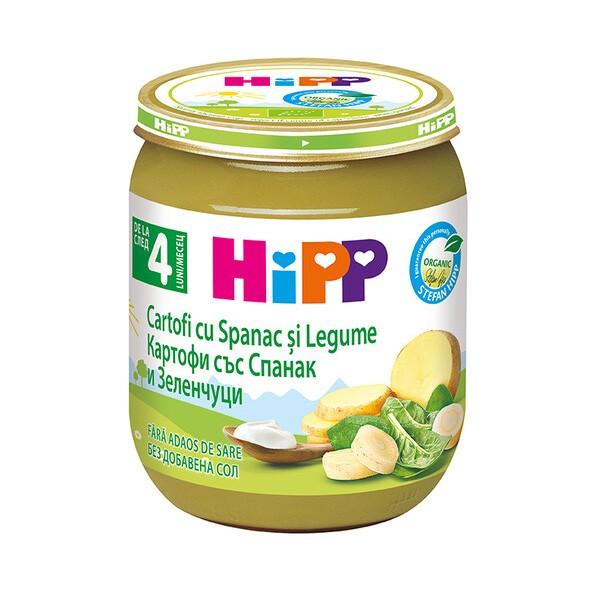 Piure de legume Hipp cartofi cu spanac si legume de la 4 luni 125 g