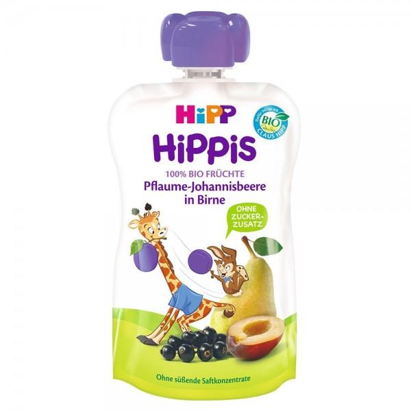 Piure Hipp Hippis pere cu prune, coacaze negre de la 1 an 100 g
