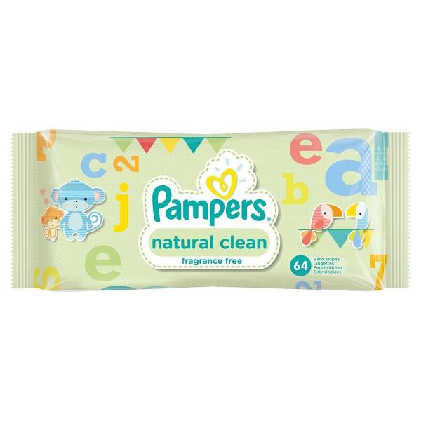 Servetele umede Pampers natural clean 64 buc