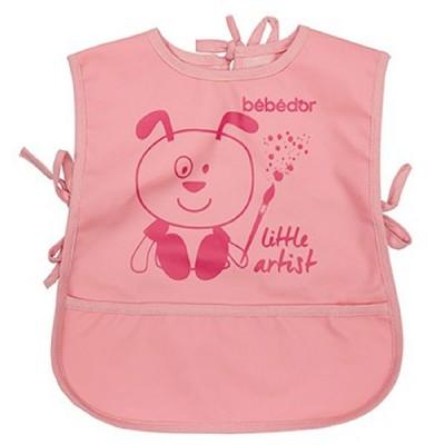 Baveta tip vesta Bebe D'Or cu buzunar roz