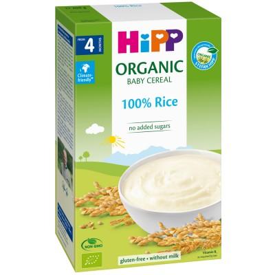 Cereale Hipp fara lapte cu orez de la 4 luni 200 g