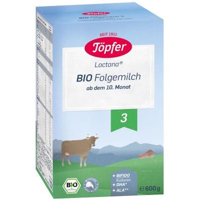 Formula de lapte praf Topfer 3 Lactana Bio de la 10 luni 600 g