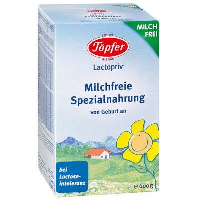 Formula de lapte praf Topfer Lactopriv fara lactoza de la nastere 600 g