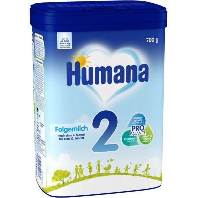 Lapte praf Humana 2 intre 6-12 luni 700 g germania