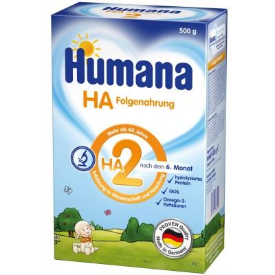 Lapte praf Humana HA 2 de la 6 luni 500 g