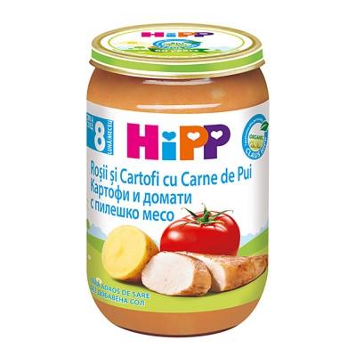 Meniu Hipp rosii si cartofi cu carne de pui de la 8 luni 220 g