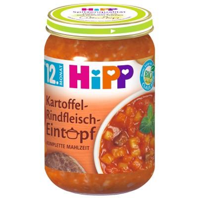 Meniu Hipp tocanita de cartofi cu carne de vita de la 12 luni 250 g