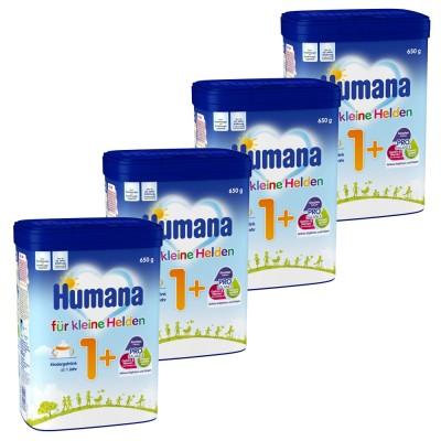 Pachet lapte praf Humana Kindergetrank 1+ DE de la 1 an, 4 x 650 g