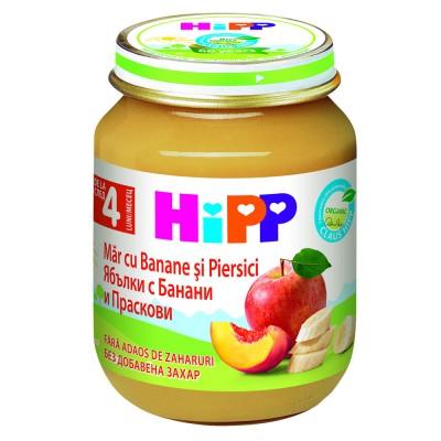 Piure de fructe Hipp mar cu banane si piersici de la 4 luni 125 g