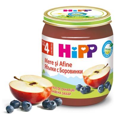 Piure de fructe Hipp mere si afine de la 4 luni 125 g
