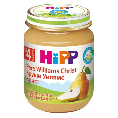 Piure de fructe Hipp pere Williams Christ de la 4 luni 125 g