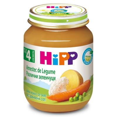 Piure de legume Hipp amestec de legume de la 4 luni 125 g
