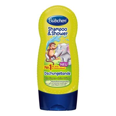 Sampon si gel de dus Bubchen Shampoo & Shower Dschungelbande 230 ml