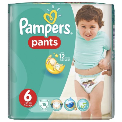 Scutece chilotel Pampers active baby 6 extra large 19 buc pentru 16+ kg