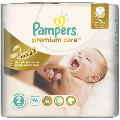 Scutece Pampers premium care 2 jumbo pack 96 buc pentru 3-6 kg